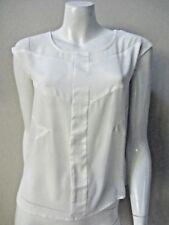 BNWT DEAD IVY sz 8/XS semi sheer 'chiffon' paneled white top/blouse AS NEW