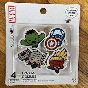Marvel Avengers Mini Erasers Hulk Captain America Thor Superhero 4pk Stocking