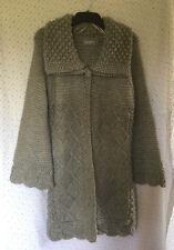 M&S Per Una Ladies Grey Wool & Alpaca Blend Jumper Coat, size Large (16/18)
