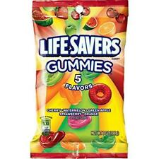 Life Savers 5 Flavors Gummies Candy Bag, 7 ounce (12 Packs)