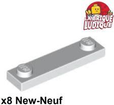 8 x LEGO 92593 Plaque 2 Tenons gris dark grey Plate 1x4 With 2 Studs NEUF NEW