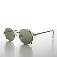 Small Oval Combination 90s Hip Hop Optical Frame Sunglass Bronze/Green - Angel