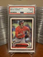 2012 Topps Update Bryce Harper Rookie Card RC #US183 PSA 9 MT Nationals