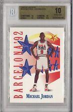 BGS 10 PRISTINE 1991-92 91-92 Skybox MICHAEL JORDAN Team USA #534 Bulls HOF