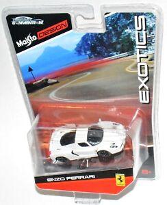 """Maisto Design Exotics White Enzo Ferrari Diecast Convention """"MOC"""""""