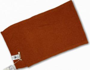 WOOLOVERS Kaschmir und Merino Schal Farbe: Burnt Orange Unisex Winter Schal