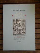 Buchkunst-Jugendstil- William MORRIS, Das ideale Buch, 1986 EDA,Abb,Ill.,sgt.Ex.