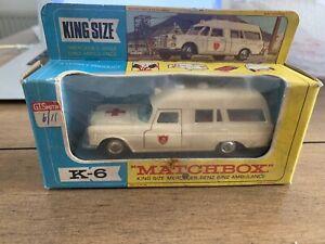 Matchbox K6 King Size Mercedes Benz 'Binz' Ambulance with Original Box