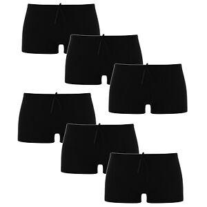 Ladies Plain Black Boxer Underwear Quality Knickers Panties Briefs Boy Shorts