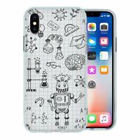 For Apple iPhone X Silicone Case Science Chemistry Pattern - S3505