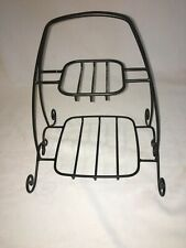 Longaberger Foundry Wrought Iron 2 Tiered Holiday Buffet Server Stand Excellent