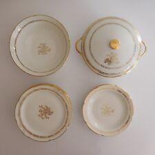 Service Véritable Porcelaine Vierzon Cher royal émail pate fine C.G art nouveau
