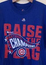Majestic Chicago Cubs Raise The Flag Championship Men's T Shirt Size Large