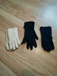 Three pairs of vintage ladies gloves
