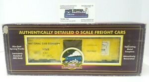 MTH NATIONAL CAR COMPANY 0 SCALE REFRIGERATOR MT-9402L -- USED