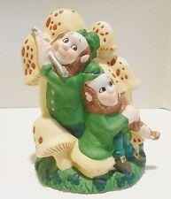 New listing Irish Leprechaun Garden Gnome Mushroom Flute Planter Flower Pot St Patrick's Day