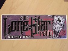 NEW 2015 Lone Star Motorcycle Rally Galveston, TX Bumper Sticker Decal LSR