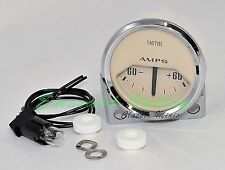 Classic Mini New 60/60 Reading Ammeter Gauge from Smiths with Magnolia Face
