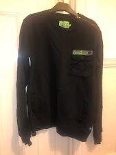 Men's Gio-Goi Black & Green Jumper - Size Large (Free P&P)