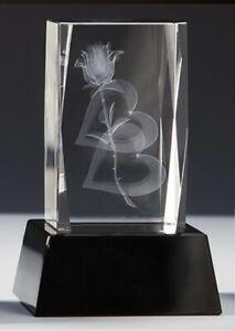 Kristallglas 3D-Lasermotiv LIEBLINGSMENSCH m.Sockelgravur -in Box- nur 27,95 EUR