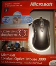 Microsoft Comfort Optical Mouse 3000 PC MAC Wired USB PS2 New in Box