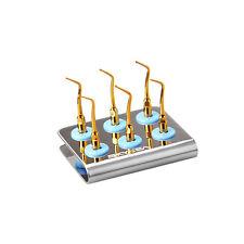 6x dental MCKG scaling tips cavity preparation kit gold for Mectron+1 holder