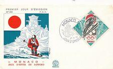 1972 Winter Olympics Sapporo Japan, FDC Monaco.