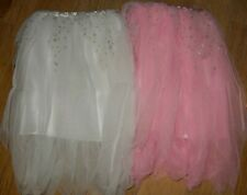GIRLS PINK AND WHITE FAIRY FANCY DRESS SKIRTS SIZE 4-7