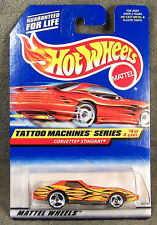 HOT WHEELS ~ TATTOO MACHINES ~ 1976 CORVETTE STINGRAY ~ ORANGE