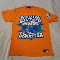 WWE Never Give Up Cenation T Shirt Medium Orange You Can't See Me John Cena 2008