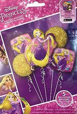 Disney Princess Rapunzel Tangled Birthday Party Favor 5CT Foil Balloons Bouquet