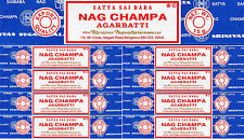9 Boxes 15gm Each Nag Champa Incense Satya Sai Baba 2017 Series 135 Grams Total