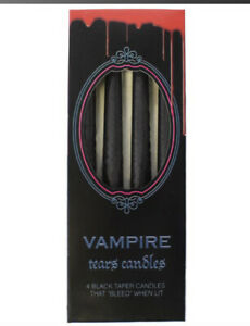 Vampire Tears Candles - Pack of 4 - Blood Red Tears - 4 hour Burn Time