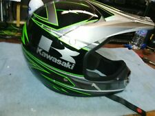 Kawasaki KBC motorcycle helmet with visor size large 59 to 60cm very sharp