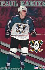 POSTER : NHL HOCKEY : PAUL KARIYA ANAHEIM MIGHTY DUCKS - FREE SHIP  #9100 LW3 L