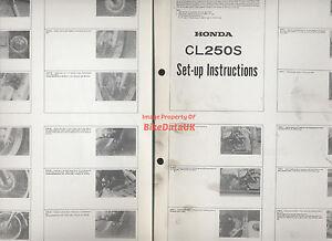 Honda CL250S (1982-1984) Genuine Factory Issue PDI Set-Up Manual CL 250 S CS99