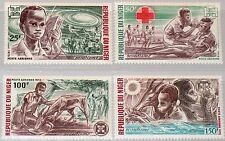 NIGER 1973 370-73 C206-09 Boy Scouts Pfadfinder first help erste Hilfe MNH
