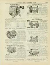 Catalog Page Ad  Fishing Reels Bronson Lion Portage Heddon Fly Rod Stockton 1925