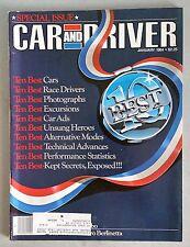 Car & Driver Jan 1984 - Ten Best: Cars - Race Drivers - Car Ads - Photographs