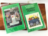 Lot YOURS TRULY Applique Pattern Grampa's Pickup 3005 & His & Hers Apron 3707