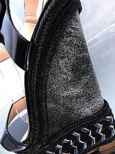 NEU Luxus Damen Sandalen Pumps Schuhe P88 High Heels Wedge Keilabsatz Black 36