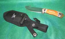 MOSSY OAK GUT HOOK FIXED BLADE SKINNING  KNIFE WITH SHEATH INCLUDED
