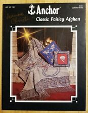 Anchor Classic Paisley Afghan Kit #17914 BOOK & Pattern RARE & OOP