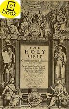 King James Bible. Antique book 1611
