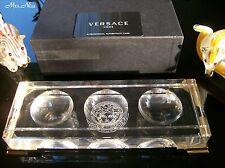 Rosenthal Versace Medusa Prisma Clear Schreibtischablage Desk Tray *NEU & OVP*