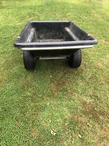 garden tractor tipping trailer