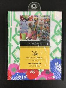 """Collier Campbell English Bloom Shower Curtain NWT Floral 72x72"""" Cotton New"""