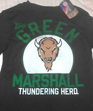 "NEW"" NCAA ~ Marshall Thundering Heard ~ Black SHIRT Boy's Sz M 12/14 LONG SLEEVE"