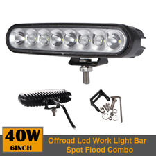 """6"""" INCH 40W Led Work Light Bar Spot Flood Combo Offroad Driving For ATV SUV Boat"""