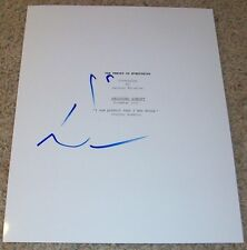 EDDIE REDMAYNE SIGNED AUTOGRAPH THE THEORY OF EVERYTHING 95 PAGE SCRIPT w/PROOF
